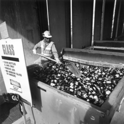 Glass Recycling Worker